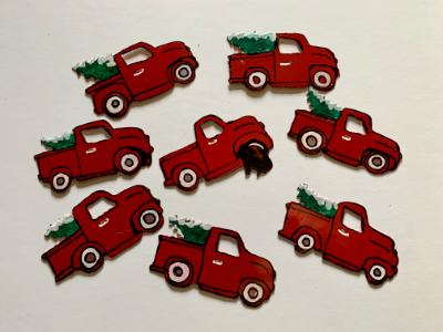 Red Truck ornaments