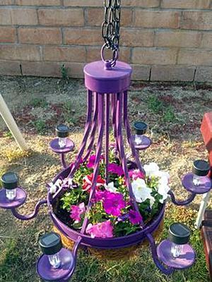 Garden Chandelier (Purple)