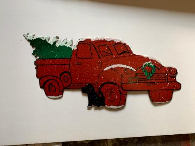 Red Truck Wall Hanging