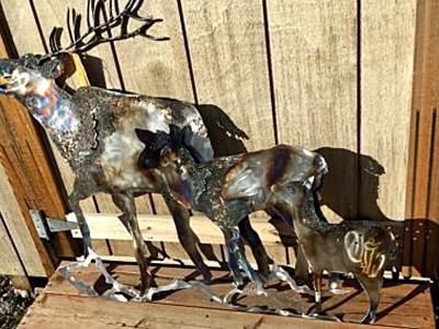 3-D Elk Family
