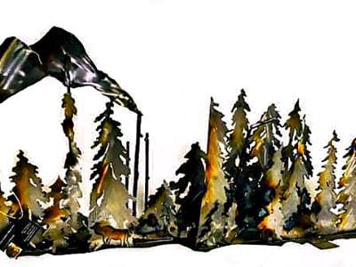 Mountain Trees Scene