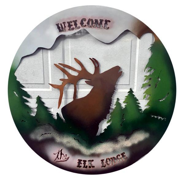 Elk Lodge Sign