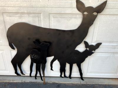 Custom Deer Design for Gate