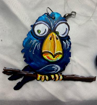 Pixar Style Bird ornament