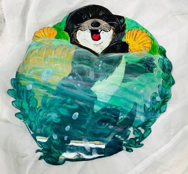 Round Otter in Water