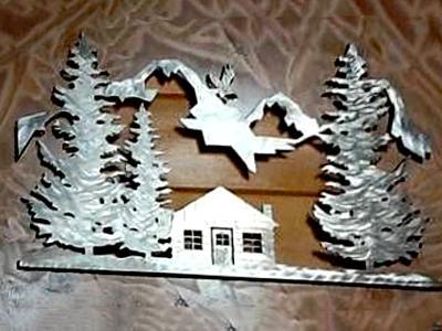 Wall Hanging Cabin Scene